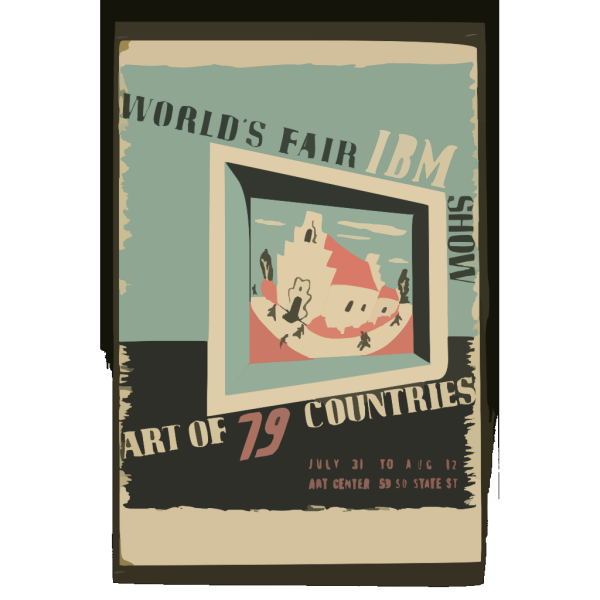 World S Fair Ibm Show Art Of 79 Countries. PNG Clip art