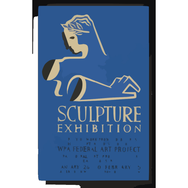 Sculpture Exhibition A Survey Of Work Produced By Artists In The Sculpture Division Of The Wpa Federal Art Project. PNG Clip art