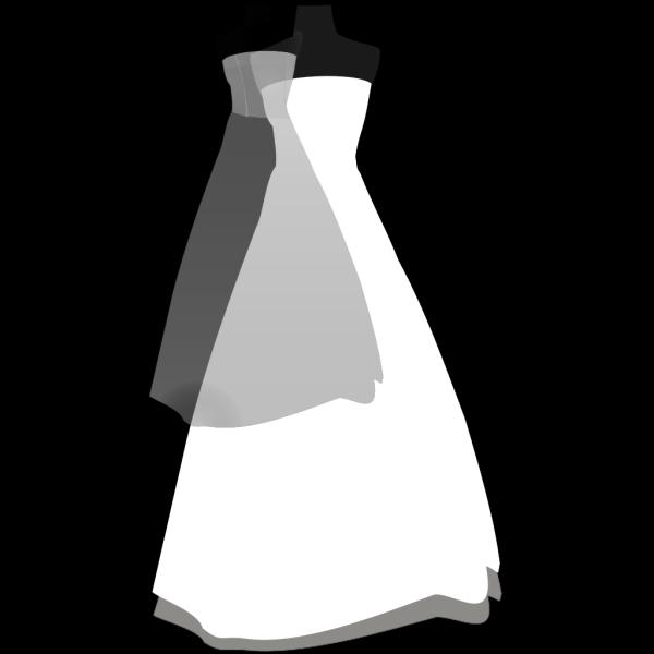 Simple Blue Wedding Dress PNG Clip art