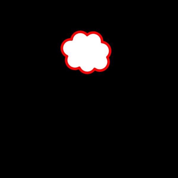 Red Cloud PNG Clip art