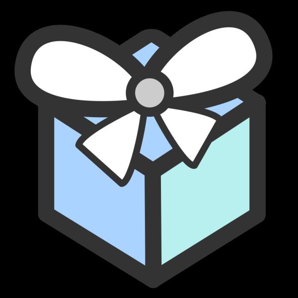 Light Blue Gift PNG Clip art