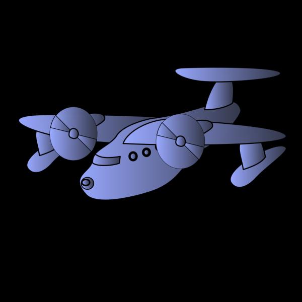 Blue Plane Flying PNG Clip art