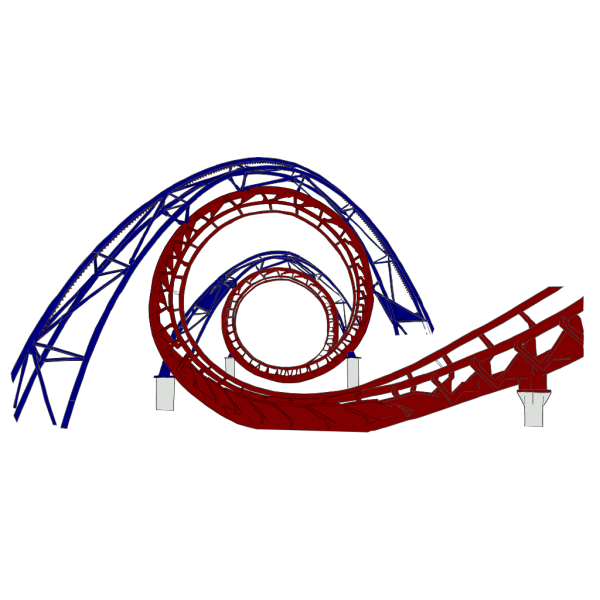 Roller Coaster Red And Blue PNG Clip art
