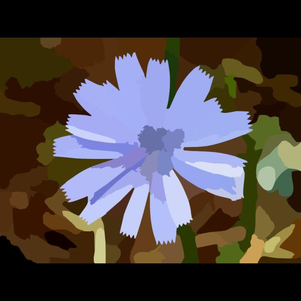 Blue Wild Flower PNG Clip art