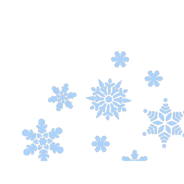 Blue Snow Falling PNG images