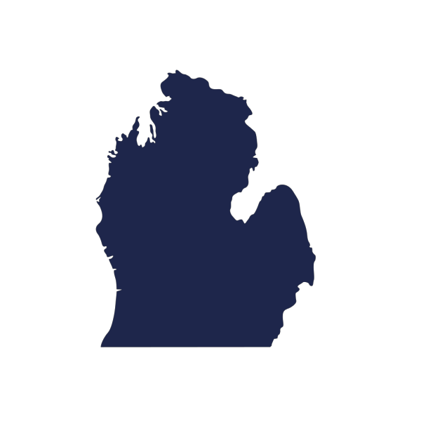 Michigan Silhouette Dk Blue PNG images