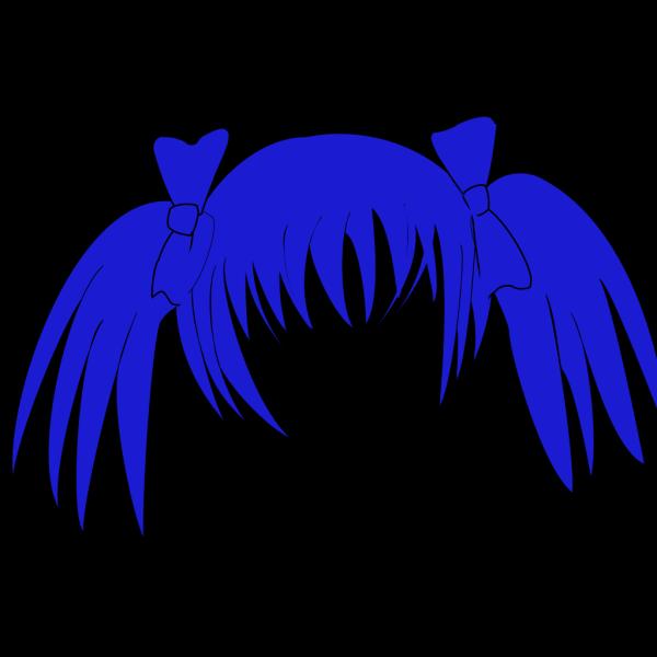 Wwu Blue Hair PNG clipart