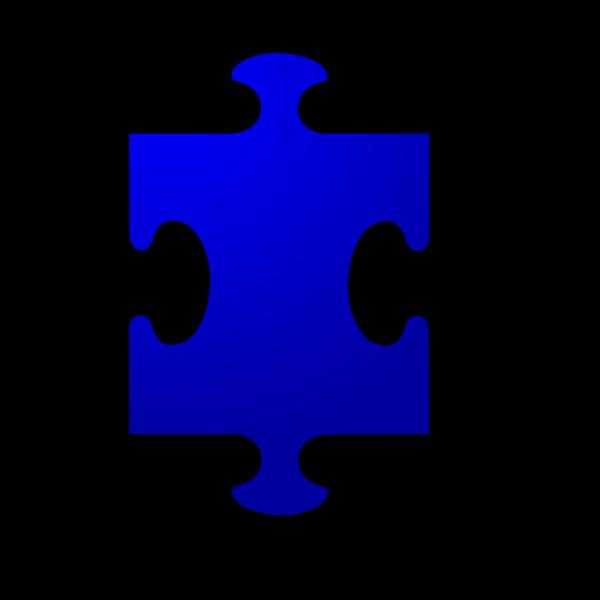 Bluepuzzlepiece PNG Clip art