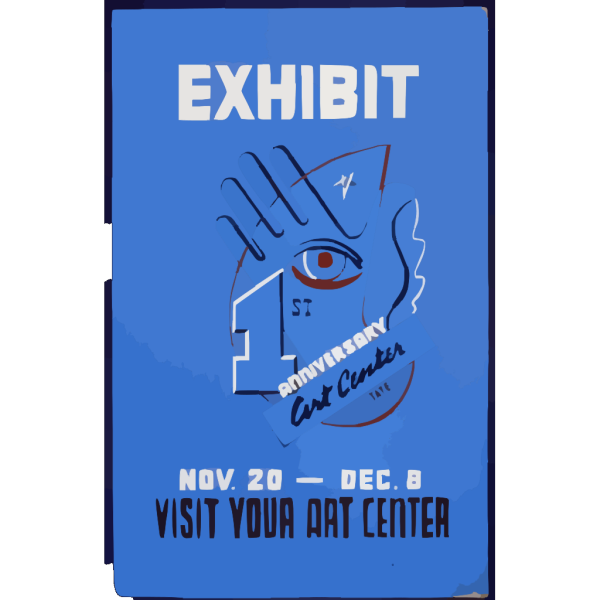 Exhibit 1st Anniversary Art Center : Visit Your Art Center. PNG Clip art