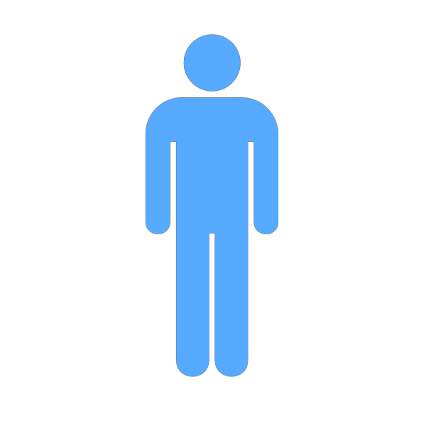 Blue Person Symbol PNG clipart