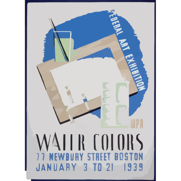Federal Art Exhibition Wpa Water Colors. PNG images
