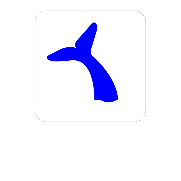 Blue Whale Tail PNG Clip art