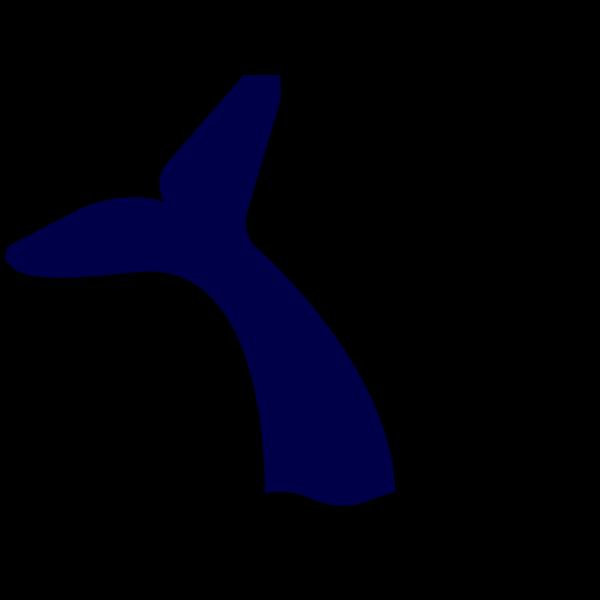 Blue Whale Tail PNG Clip art