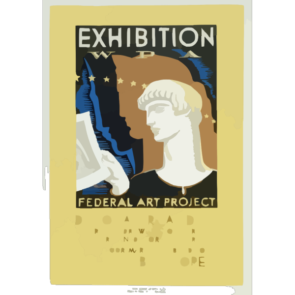 Exhibition Wpa Federal Art Project Index Of American Design / Milhous. PNG image