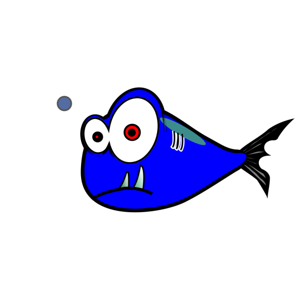 Blue Fish Black Test 3 PNG Clip art