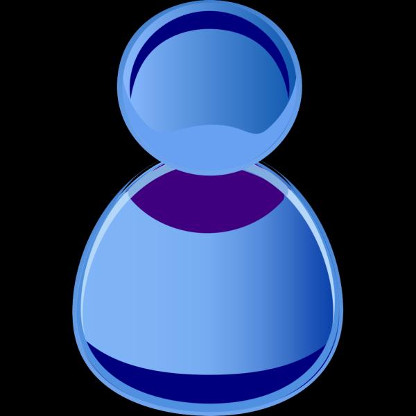 Blue Symbol Person PNG Clip art