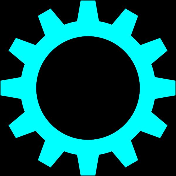 Blue Cogwheel PNG Clip art