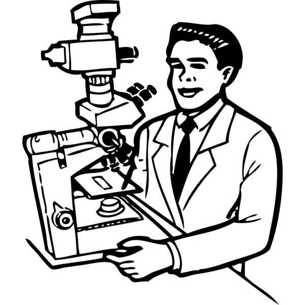 Scientist Holding Small Robot PNG images