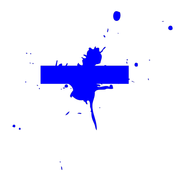Blue Title Splat  PNG clipart
