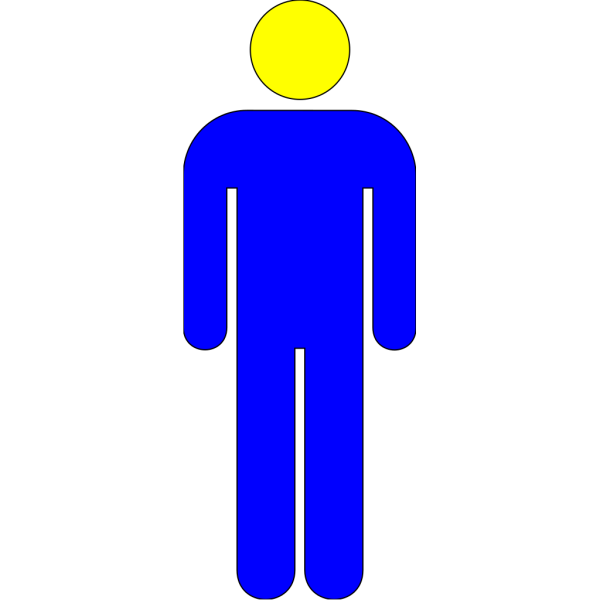 Blue-yellow Icon Man 02 PNG clipart