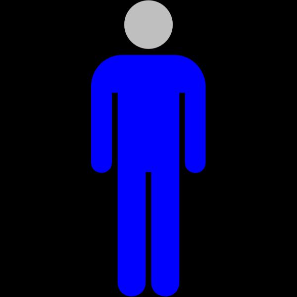 Blue-grey Icon Man 02 PNG Clip art