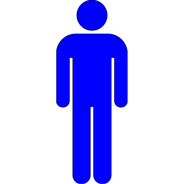 Blue Icon Man 03 PNG clipart