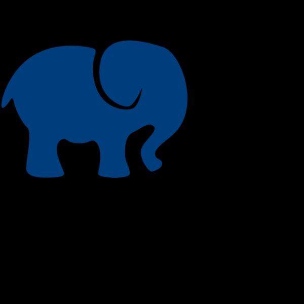 Dark Blue Elephant PNG Clip art