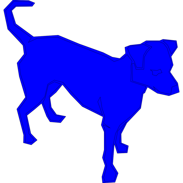 Dog Blue PNG icons