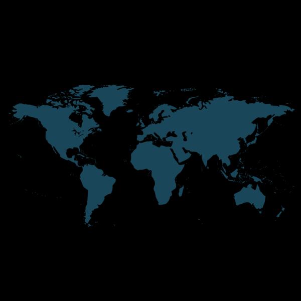 World Map Blue PNG Clip art