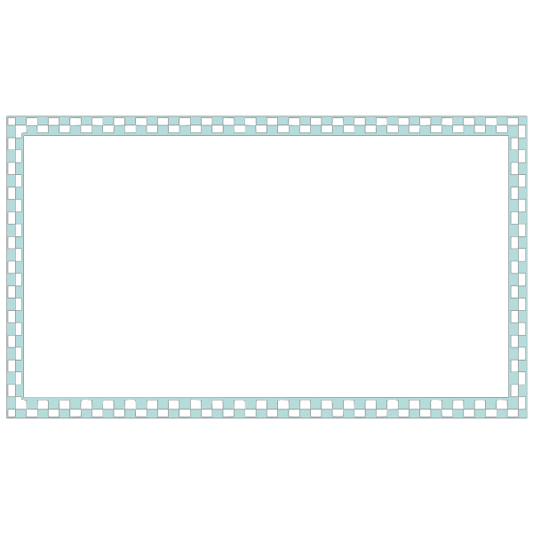 Blue Checkered Border PNG Clip art