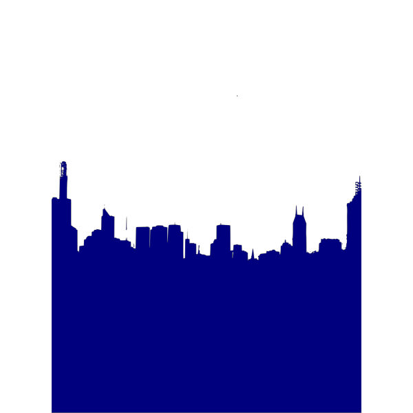 Dark Blue City Skyline 2 PNG Clip art