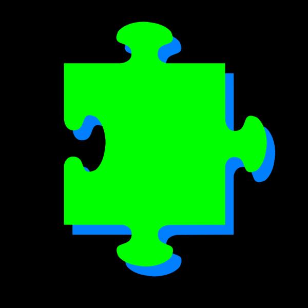 Green Blue Puzzle PNG Clip art