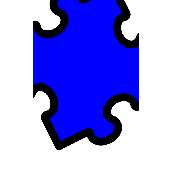 Blue Puzzle PNG icon