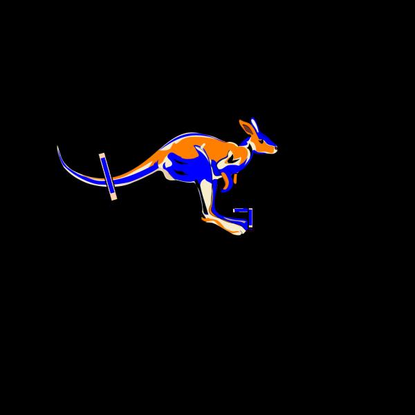 Blue Kangaroo PNG Clip art