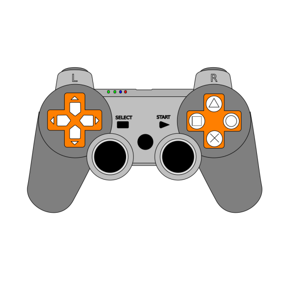 Game Controller Arrow Set Smooth PNG images