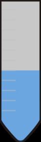 Test Tube-5ml Blue Color PNG Clip art
