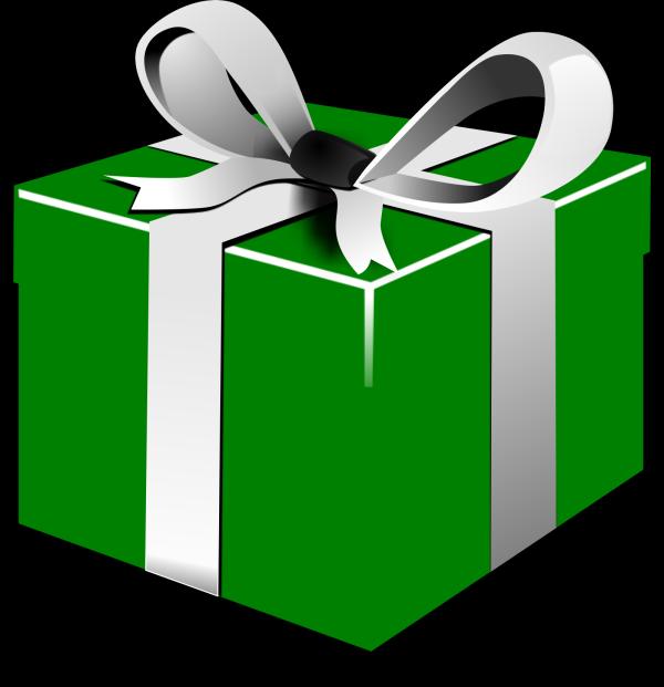 Green-blue Gift PNG Clip art