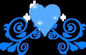 Blue Heart Swirl PNG Clip art