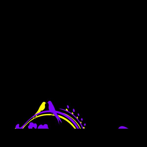 Blue Butterfly Scroll PNG Clip art