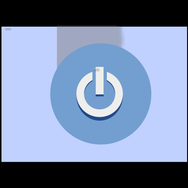 Blue Exit Button PNG Clip art