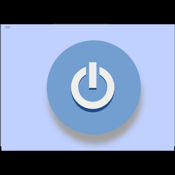 Blue Exit Button 2 PNG Clip art