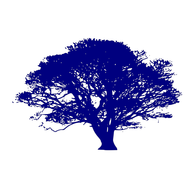 Dark Blue Tree PNG clipart