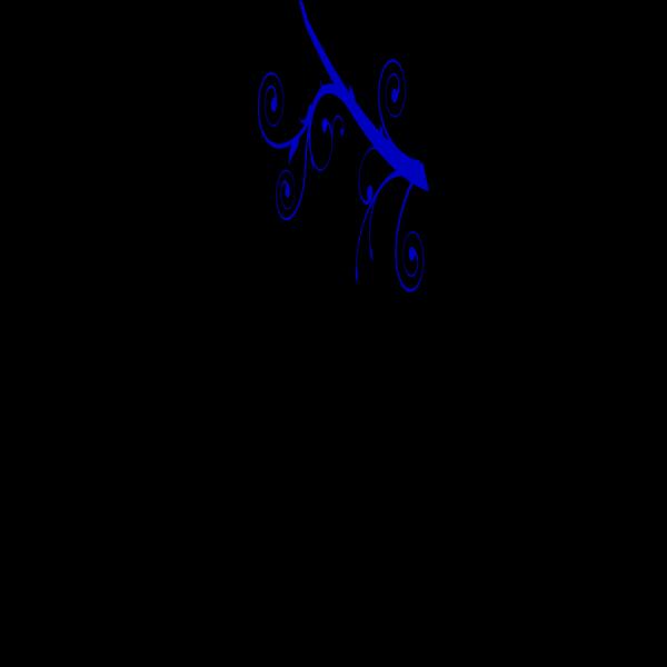 Blue Branch Swirl PNG Clip art