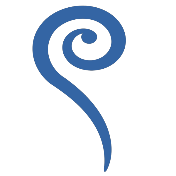 Big Blue Swirl PNG icons