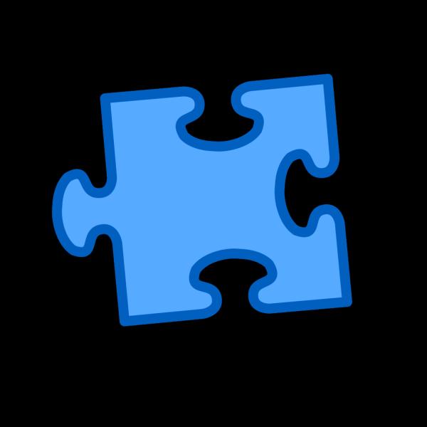 Blue On Blue Puzzle Piece PNG Clip art