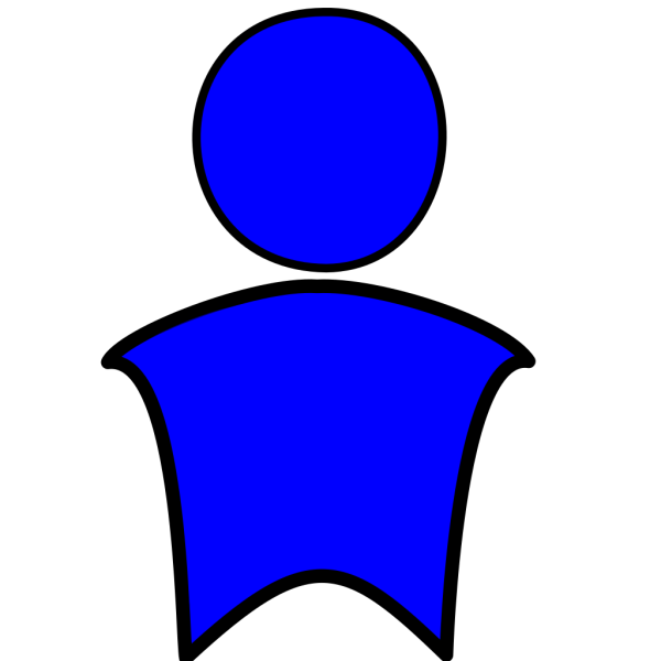 Blue Man PNG clipart