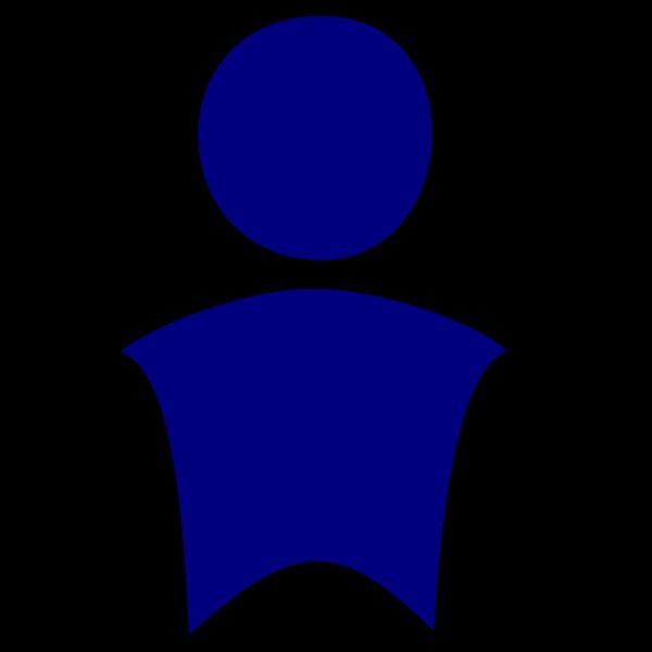 Blue Man 4 PNG Clip art