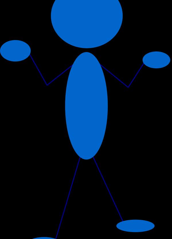 Running Blue Stick Man Clip Art PNG Clip art