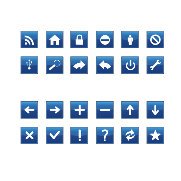 Blue Vote Sign PNG icon