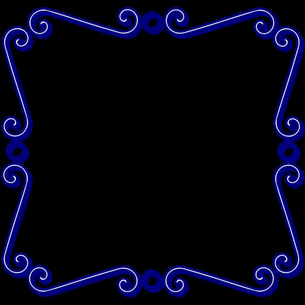 Blue Swirl Frame PNG Clip art